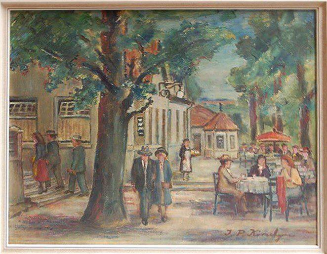 An der Attahöhle, Johann Peter Körschgen, 1920er Jahre, Öl auf Leinwand