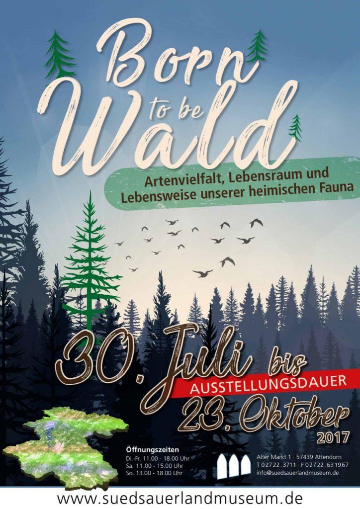 Südsauerlandmuseum Ausstellung - Born to be Wald Plakat
