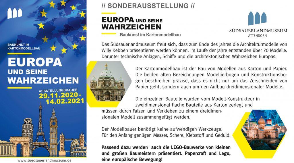 Europäische Wahrzeichen – Baukunst im Kartonmodellbau