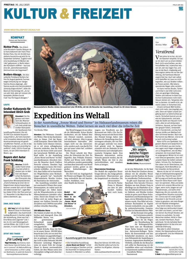 "Westfalenpost: ""Expedition ins Weltall"" 1"
