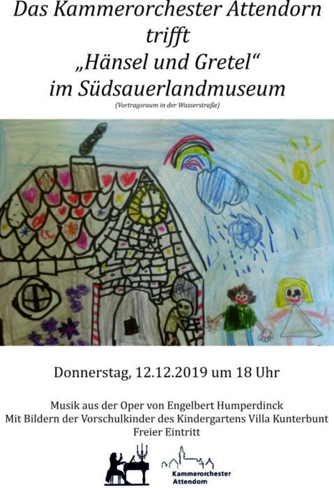 """Das Kammerorchester Attendorn trifft """"Hänsel und Gretel"""" im Südsauerlandmuseum - suedsauerlandmuseum - attendorn"""
